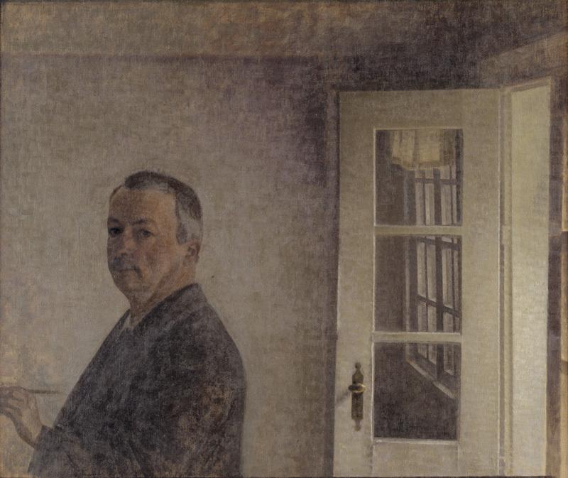Self-Portrait. The Cottage Spurveskjul at Sorgenfri, North of Copenhagen