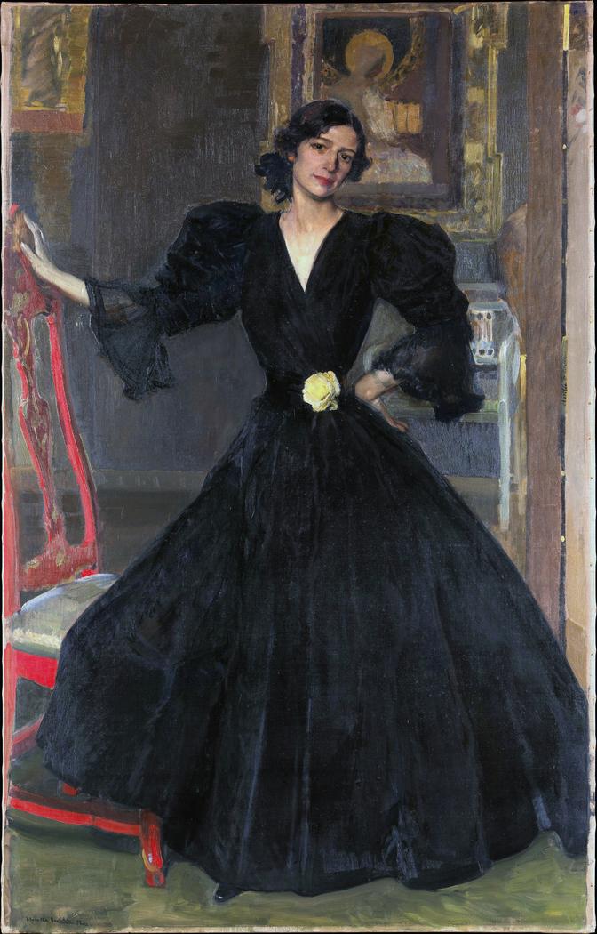 Señora de Sorolla (Clotilde García del Castillo, 1865–1929) in Black