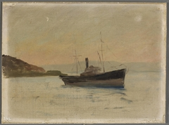 Ship on the Black Sea. From the journey to Constantinople