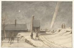 Staartster boven Alkmaar, 1681
