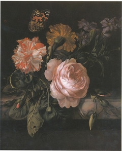 Still Life of Flowers with a Butterfly