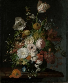 Still Life with Flowers in a Glass Vase