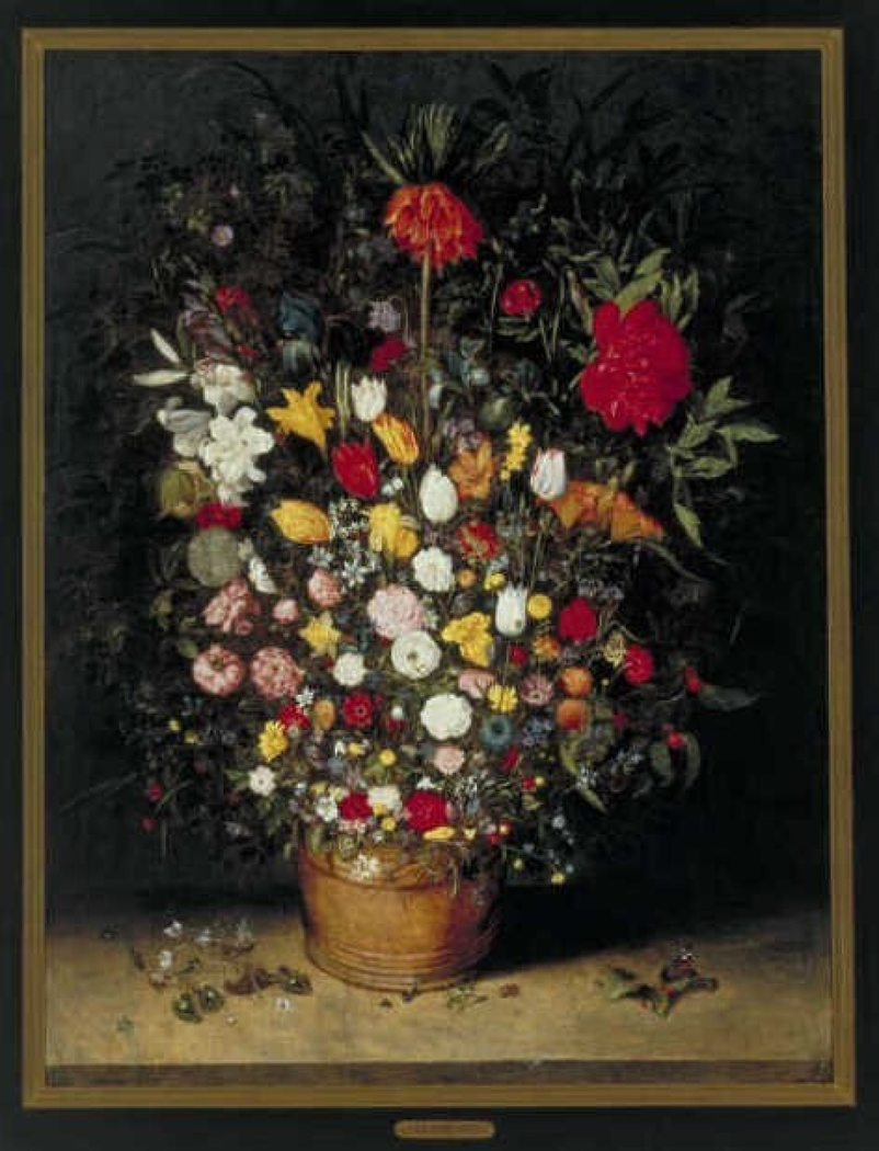 Still Life with Flowers in a Wooden Tub