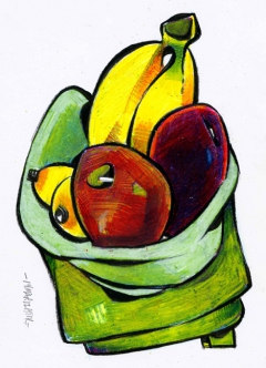 Still life with fruit 01