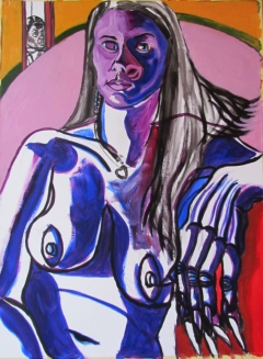 Study of Janelle 2008; 42in X 30in; Acrylic on Museum Board; Steve Hendrickson