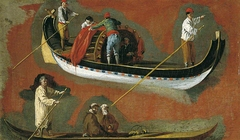 Study of Two Gondolas and Figures