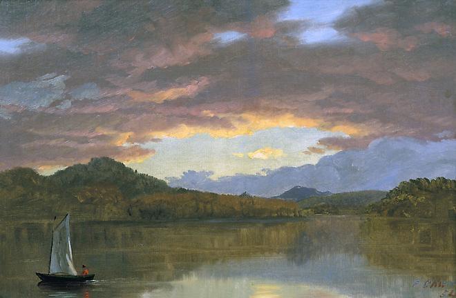 Sunset on Catskill Lake