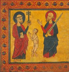 Supplicant Soul between Saint Peter and Saint Paul