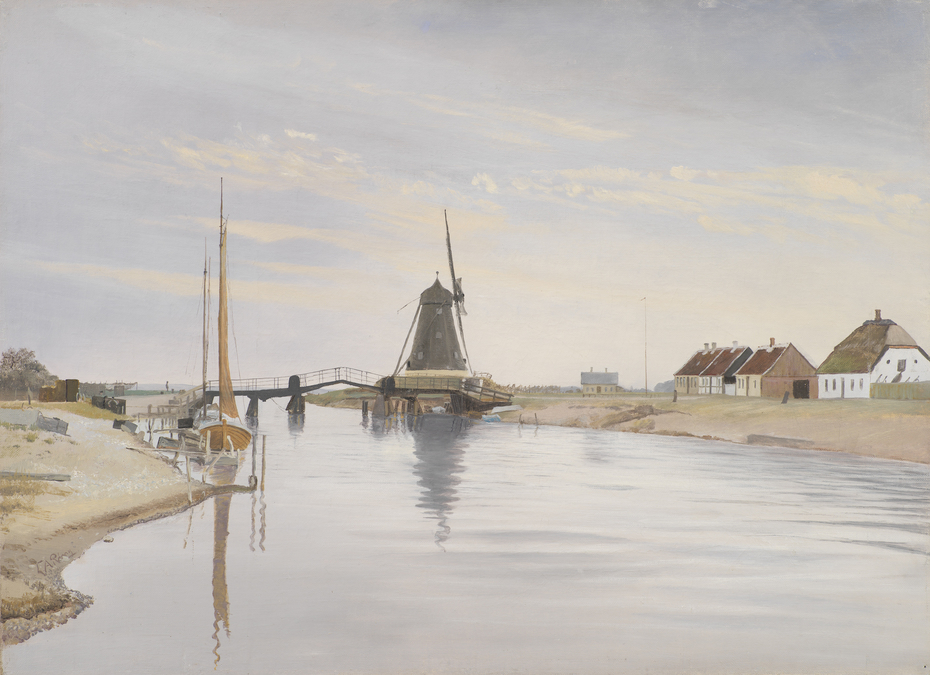 Susåen. The Bridge and the Mill at Karrebæksminde