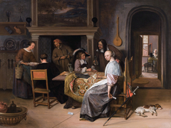 The Card Players in an Interior