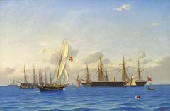 The Channel Fleet at Copenhagen in 1862.