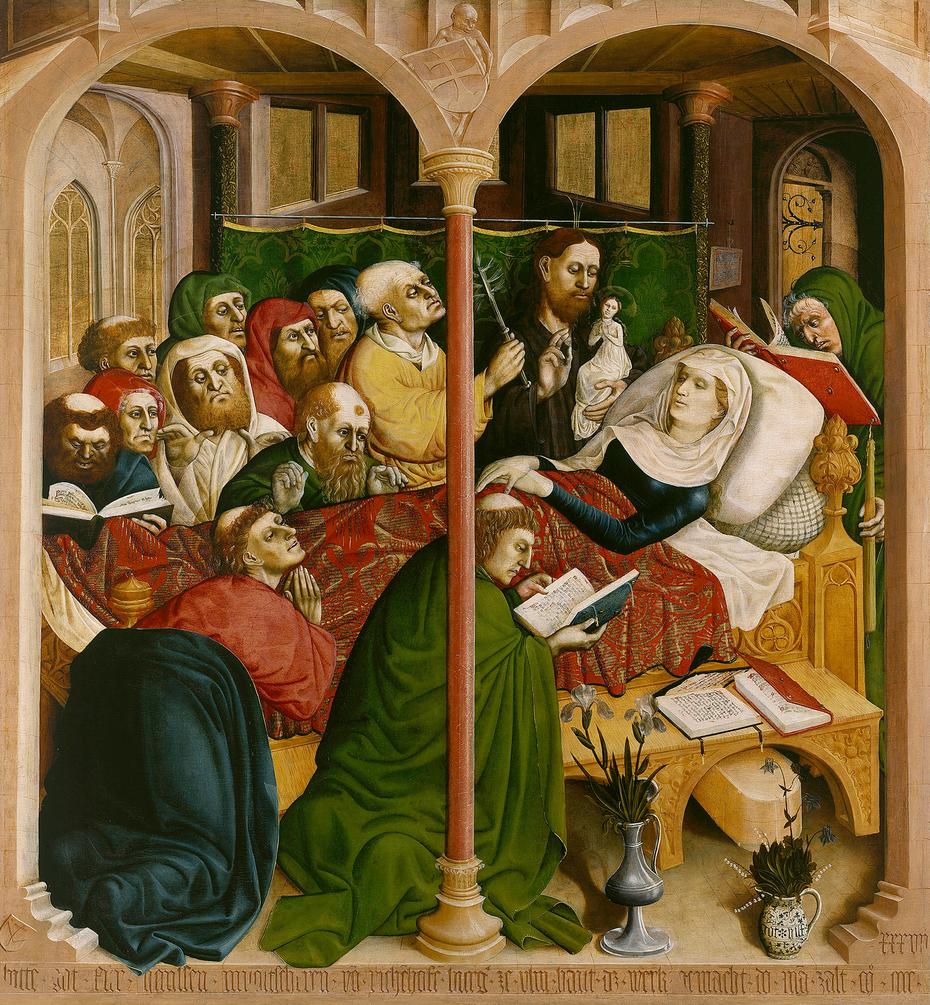 the death of mary wurzach altarpiece hans multscher artwork on