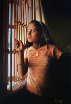 Lonesome Girl by the Window