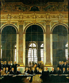 The Signing of Peace in the Hall of Mirrors