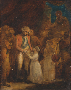 The Two Sons of Tipu Sahib, Sultan of Mysore, Being Handed over as Hostages to General Cornwalli