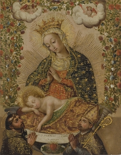 The Virgin Adoring the Christ Child with Two Saints (La Virgin adorando al Niño Jesús con dos santos)