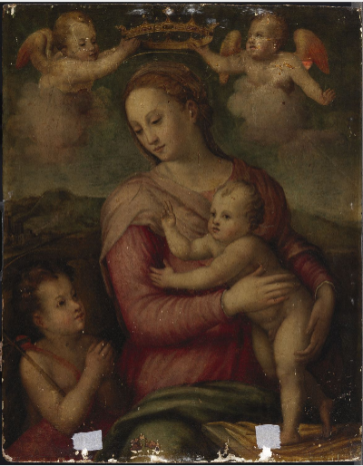 The Virgin and Child with Saint John the Baptist and Angels
