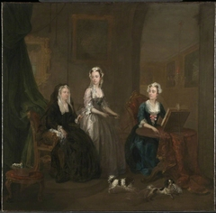 Three Ladies in a Grand Interior ('The Broken Fan'), possibly Catherine Darnley, Duchess of Buckingham with Two Ladies