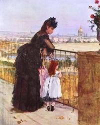 Femme et enfant au balcon