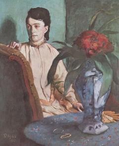 Sitzende Frau mit der Vase (Porträt der Mlle. E. Musson)