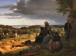 A Funeral. Motif from Northern Zealand