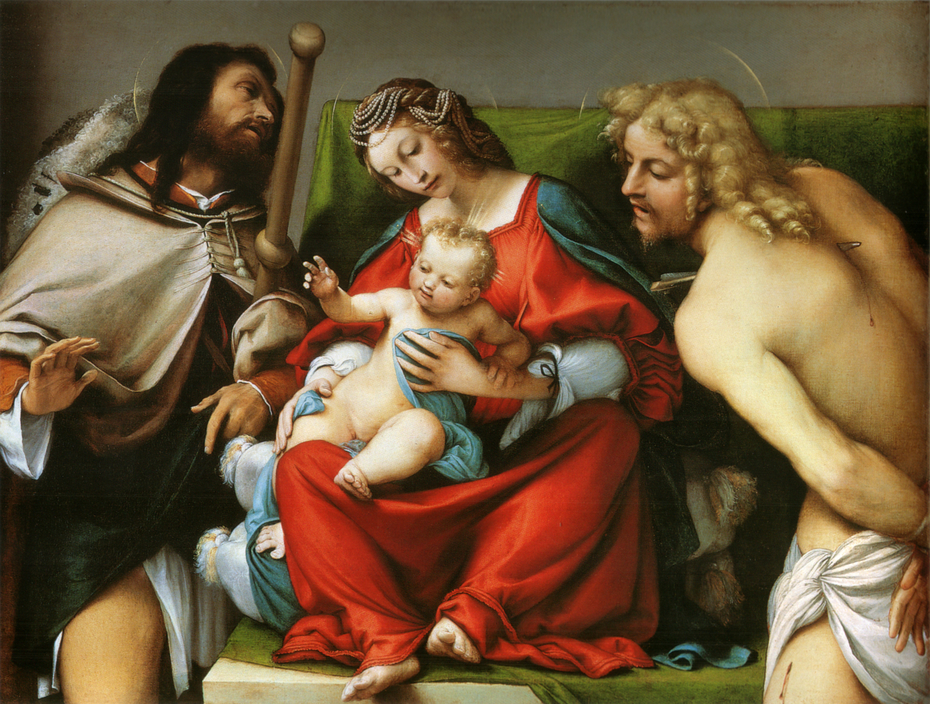 Madonna with the Child and Sts Rock and Sebastian