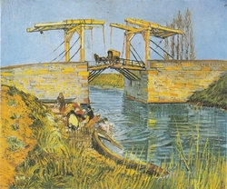 The Bridge of Langlois at Arles with laundresses
