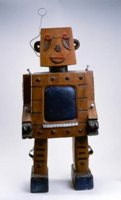 Untitled - Wood Robot Sculpture