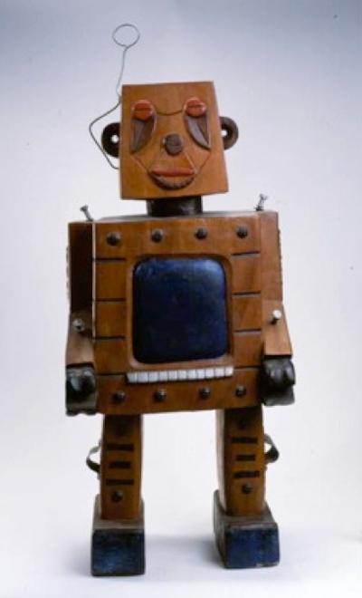 Untitled - Wood Robot Sculpture