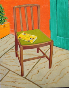 Utility dining chair (2007) oil on linen, 90 x70 cm.