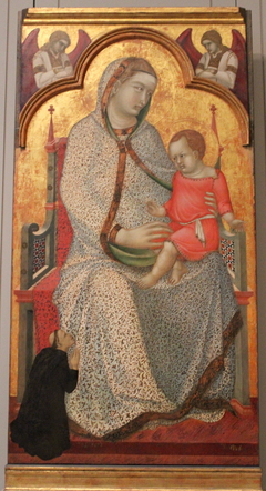 Virgin and Child Enthroned and Donor, Angels