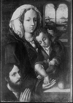 Virgin and Child with a Donor