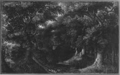 Waldlandschaft mit Hagar und dem Engel (Werkstatt)
