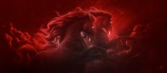 Wild Horses (Red)