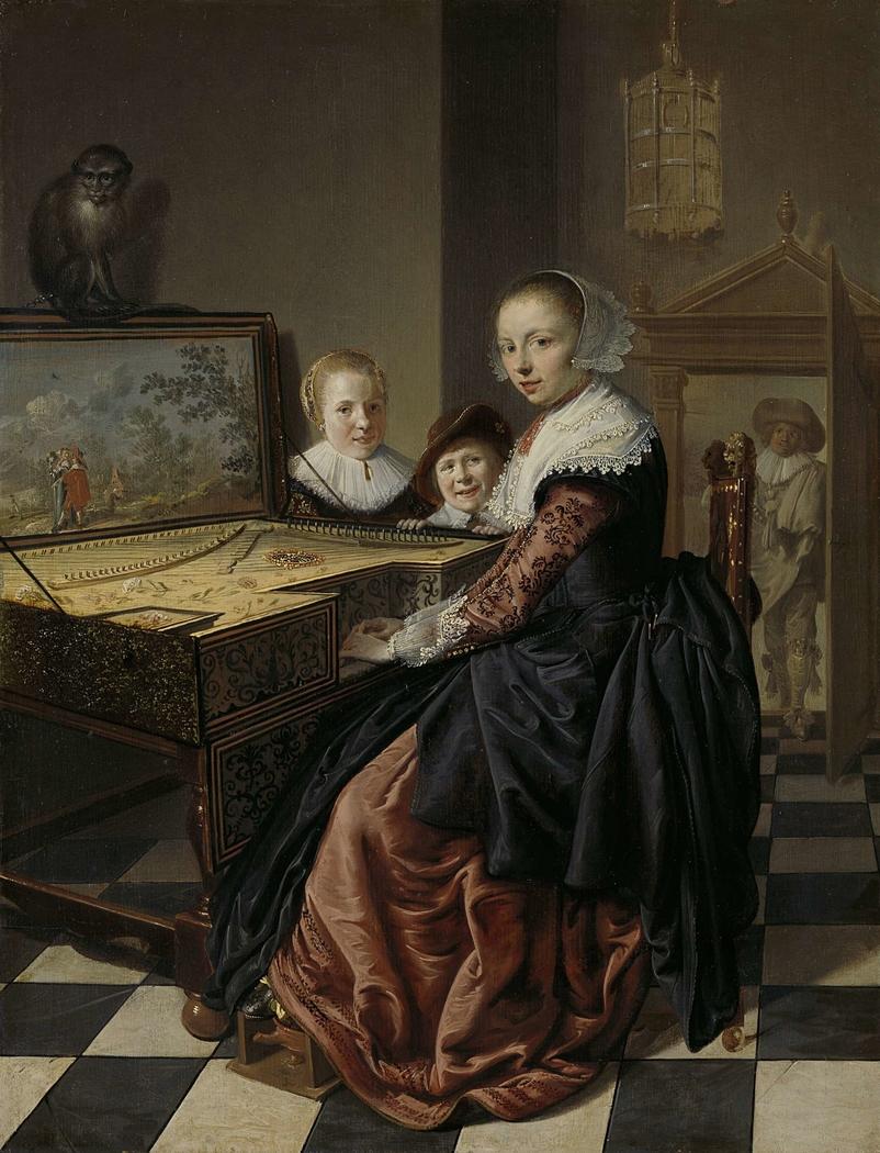 Woman at the Virginal