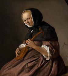 Woman Playing the Sistrum