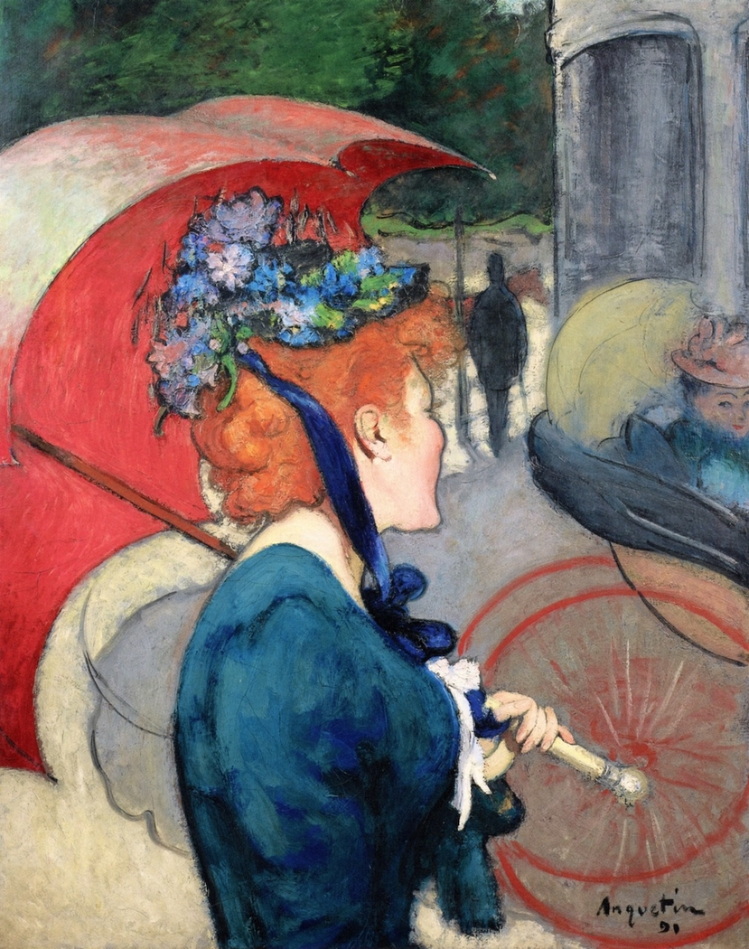 Woman With Umbrella Louis Anquetin Artwork On Useum