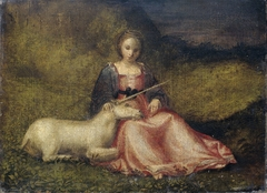 """Woman with Unicorn"