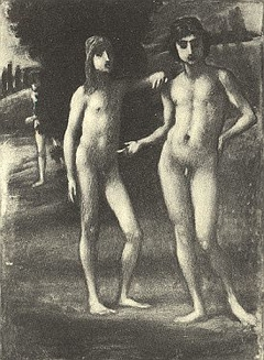 """Youths in a Landscape (""""Two Youths"""")"""