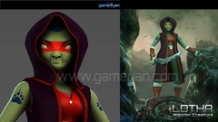 3D Lotha Creature Character Rigging
