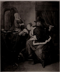 A Girl Asleep and a Man Smoking