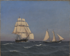 A Privateer Outsailing a Pursuing Frigate