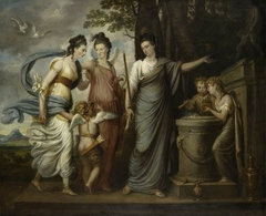 Allegorical Scene with Juliana, Countess of Carrick (1727/8–1804) as Wisdom, directing her Younger Daughters, Lady Henrietta Butler, later Viscountess Mountgarnet (1750–1785) and Lady Margaret Butler/