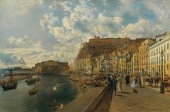 Am Strand von Santa Lucia in Neapel