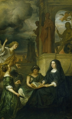 Amalia van Solms in Mourning for her Husband, Prince Frederick Henry (Allegory of the Memory of Frederick Henry, Prince of Orange, with the Portrait of his Widow Amalia van Solms)