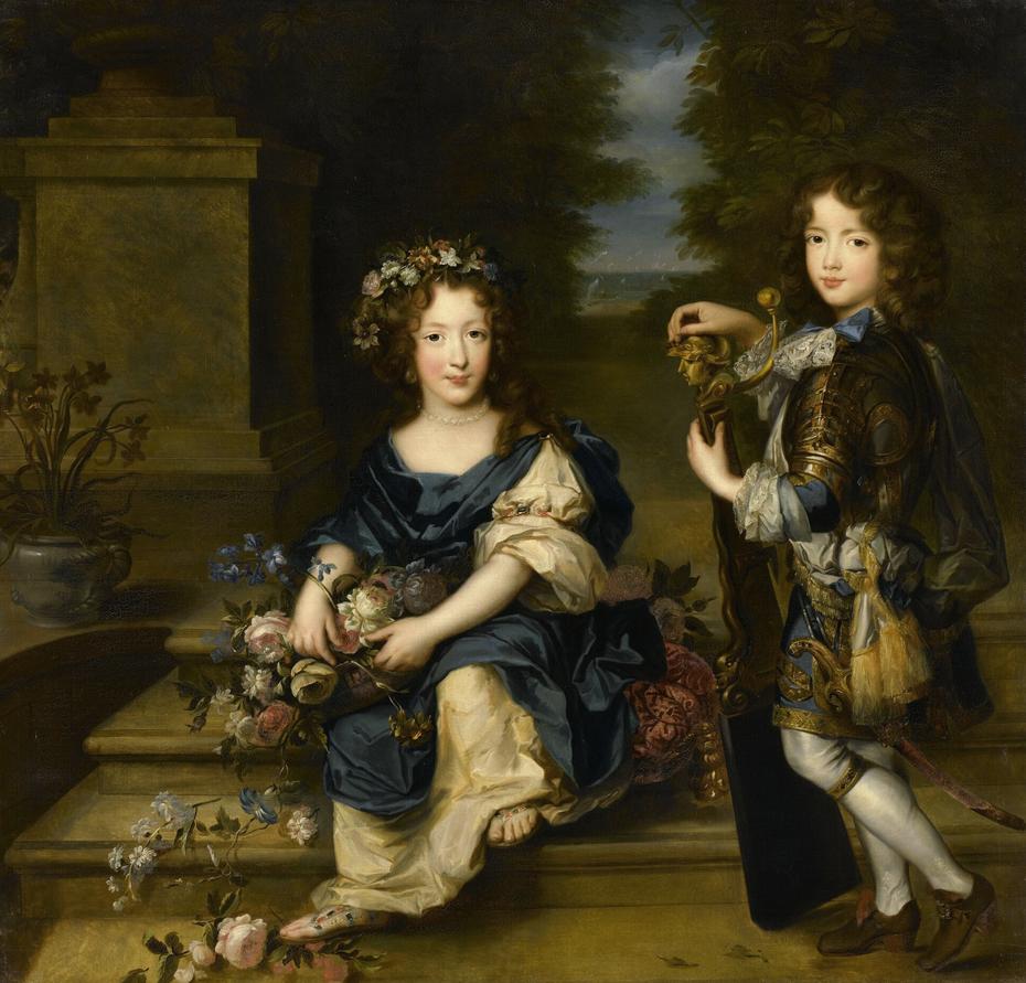 Anne-Marie de Bourbon, future princesse de Conti et Louis de Bourbon, comte de Vermandois