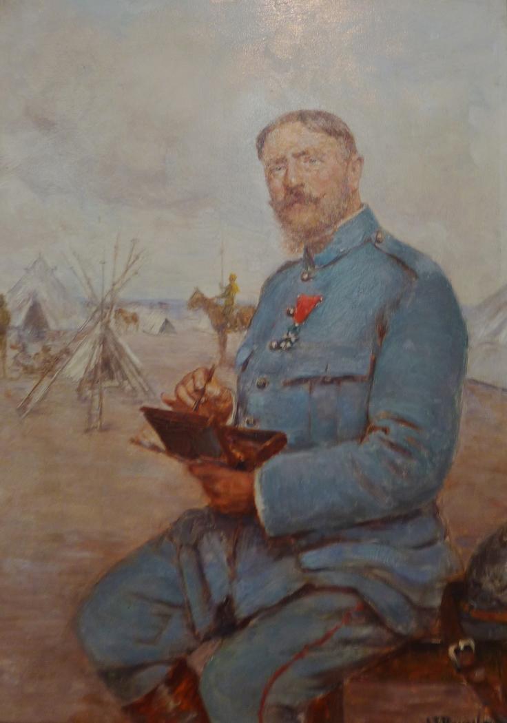 Autoportrait de Joseph-Félix Bouchor en peintre de l'armée