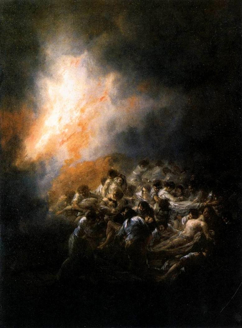 Blaze, Fire at night