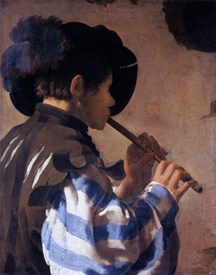 Boy Playing a Fife