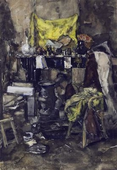 Corner of the artist's studio